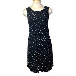 GAP Swing Dress Sleeveless Shift Pockets Black M